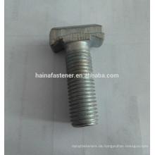 Blau weiß verzinkt T-förmiger Bolzen mit Steckdose, maßgeschneiderte T-Schraube, C-Stahl maßgeschneiderte T-Schraube mit Steckdose