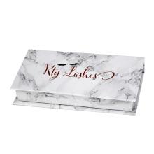 Boîte d'emballage de faux cils en marbre personnalisé de luxe
