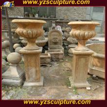 Taman besar Flowerpots marmar antik