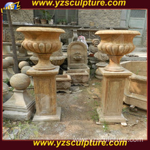 Large Garden Antique Marble Flowerpots