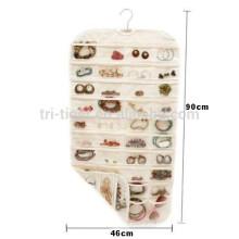 Colgante de joyería Organizador de almacenamiento 80 Bolsillos Accesorios Para Collares Colgantes
