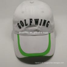 2016 Mode mit flachen Stickerei Golf Mütze in China gemacht