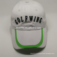 Mode 2016 avec chapeau de golf à broder plat en Chine