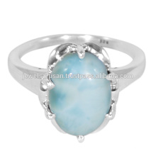 Neueste Design Larimar Edelstein 925 Solid Silber Ring