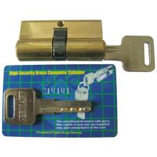 Serrures à cylindre en laiton avec carte UV (CY60)