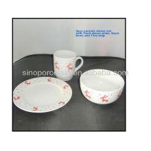 3pcs cerâmica jantar set Natal design para BSD1211A