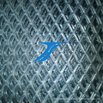 Malla metálica expandida con orificio de diamante
