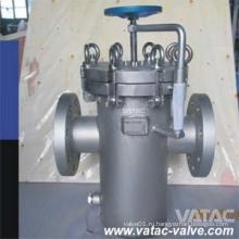 Металлическая корзина фильтр с дренажной пробкой