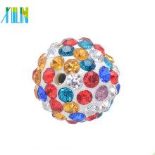 Perles de boule de strass de mode pour les perles de pavé de bijoux de bracelet
