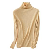 Frauen Rollkragen pullover jumper slim fit 7 farben elastische kaschmir jumper