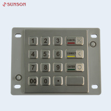 Waterproof IK08 Encrypting Pin Pad For Fuel Dispenser