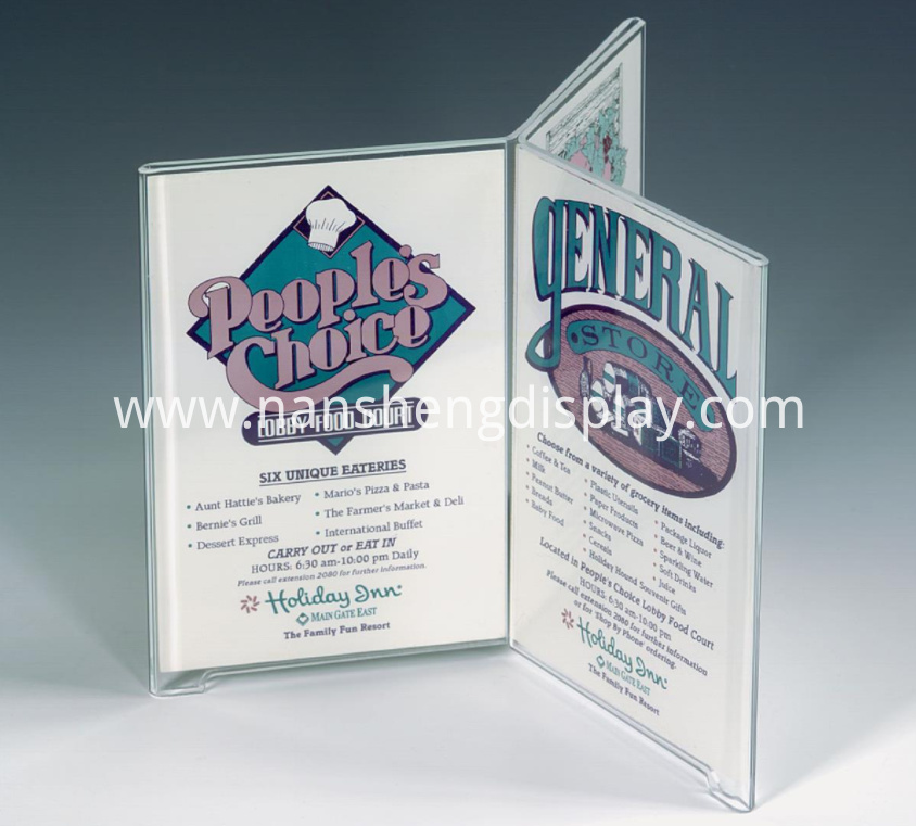Acrylic Sign Holder For Tabletops