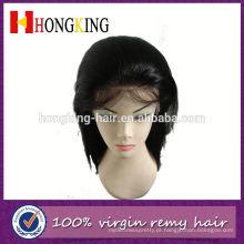 Peruca de cabelo de remy indiano top de seda frente made in China