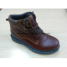 High Quality MID-Cut Boots Warmer Leather Shoes Stock (FF616-2)
