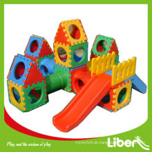 Kinder Multifunktionale Indoor-Plastik-Spielhaus mit Slide-Set Verwendet im Garten LE.WS.057