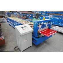 4 Kw Trapezoidal Roof Panel Roll Forming Machine With Hydraulic Cutter