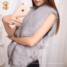 100% Real Genuine Fox Fur Vest Gilet Waistcoat Coat Fur Trendy Ladies Women