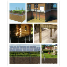 Parafusos solares galvanizados para solar