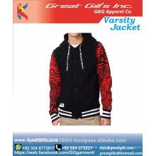 Großhandel maßgeschneiderte Jacke benutzerdefinierte Baby-Uni-Jacke / Modejacke
