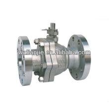 2PC bridé fin robinet à boisseau sphérique en acier inoxydable 300LB