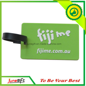 Fashion Green PVC Luggage Tags for Promotional Gifts