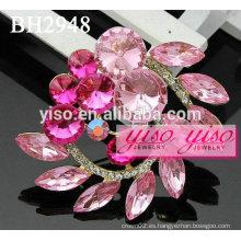 Broches de rhinestone rosa