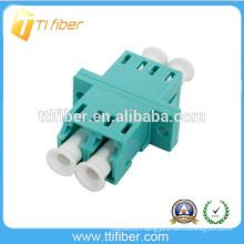 Aqua OM3 LC Fiber Optic Coupler