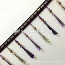 Home Textile Fancy Dekorative Quaste Perlen Fransen für Vorhang