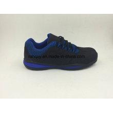 Novo design estilo Casual couro sapatas de segurança exteriores trabalhando sapatos (16061)