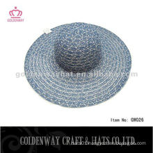 Cheap Lady Hat For Promotion beautiful summer beach sun hat yarn material