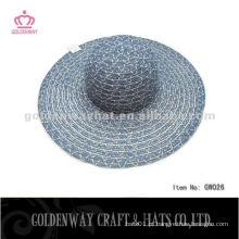 Lady Hat barato para promoção lindo verão praia sol chapéu material de fios