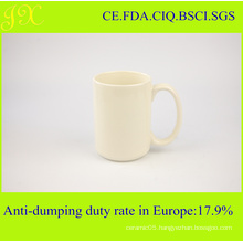 High Quality Light Yellow Ceramic Coffee Mug