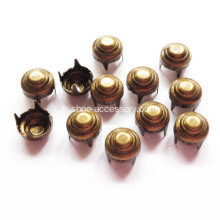 6.5mm Antique Brass Convexity Bullseye Studs