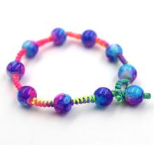 Bracelet en perles tissées à la main