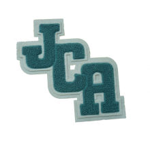 Promotional Green Custom Embroidered Patches, Sew / Iron On Patch For Clothing