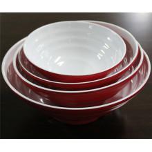 Bols de vaisselle en céramique de mélamine d'imitation de double couleur (CP-052)
