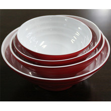Dual Color Imitation Ceramic Melamine Tableware Bowls (CP-052)