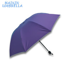 "Yiwu Manufacturer Latest OEM Wholesale 21"" Manual Open Three Fold Cheap Large Market Umbrella Commercial Bulk Buy from China"