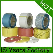 Material de reciclaje de color amarillo Correa de plástico