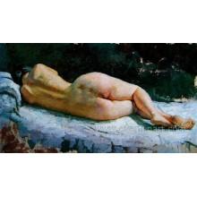 Handgemalte sexy nackte Frauen Bild Malerei Ebf-033