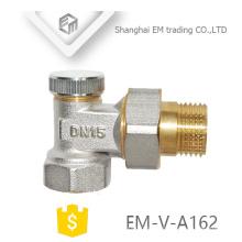 Válvula de ângulo de controle de temperatura de latão niquelado EM-V-A162 DN15