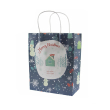 delicate packing handles Christmas decorative paper bags