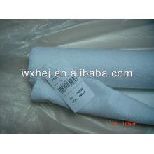 Tejido de rizo blanco de 80% algodón 20% poliéster en stock para funda de colchón