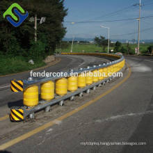 Easy to replace Highway guardrail anti crash roller barrier