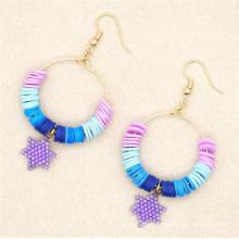 Geometric Round Soft Ceramic Earrings Female Personality Handmade Colorful Miyuki Beads Earrings Jewelry