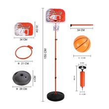 1.5 metros de montagem esporte brinquedo crianças basquete conjunto (10232759)