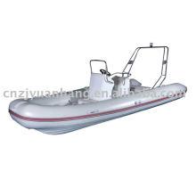 Hot! RIB 550 1.2mm imported pvc tube hull rigid fiberglass boat with console cabin