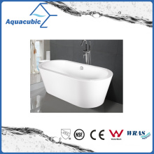 Bathroom Oval Free-Standing Acrylic Bathtub (AB1505W)