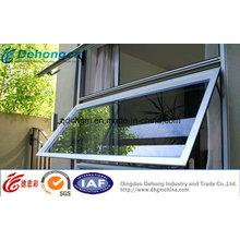 Fenêtre d'habitation pratique en PVC à l'auvent