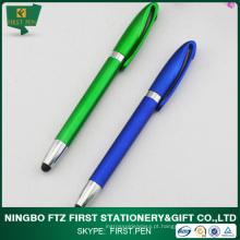Caneta de plástico barata com ponta de caneta